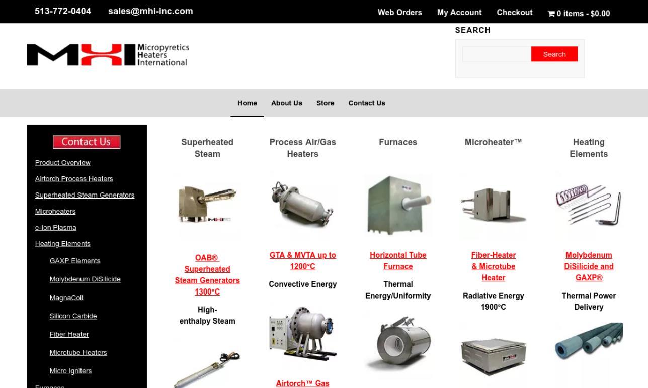 Micropyretics Heaters International