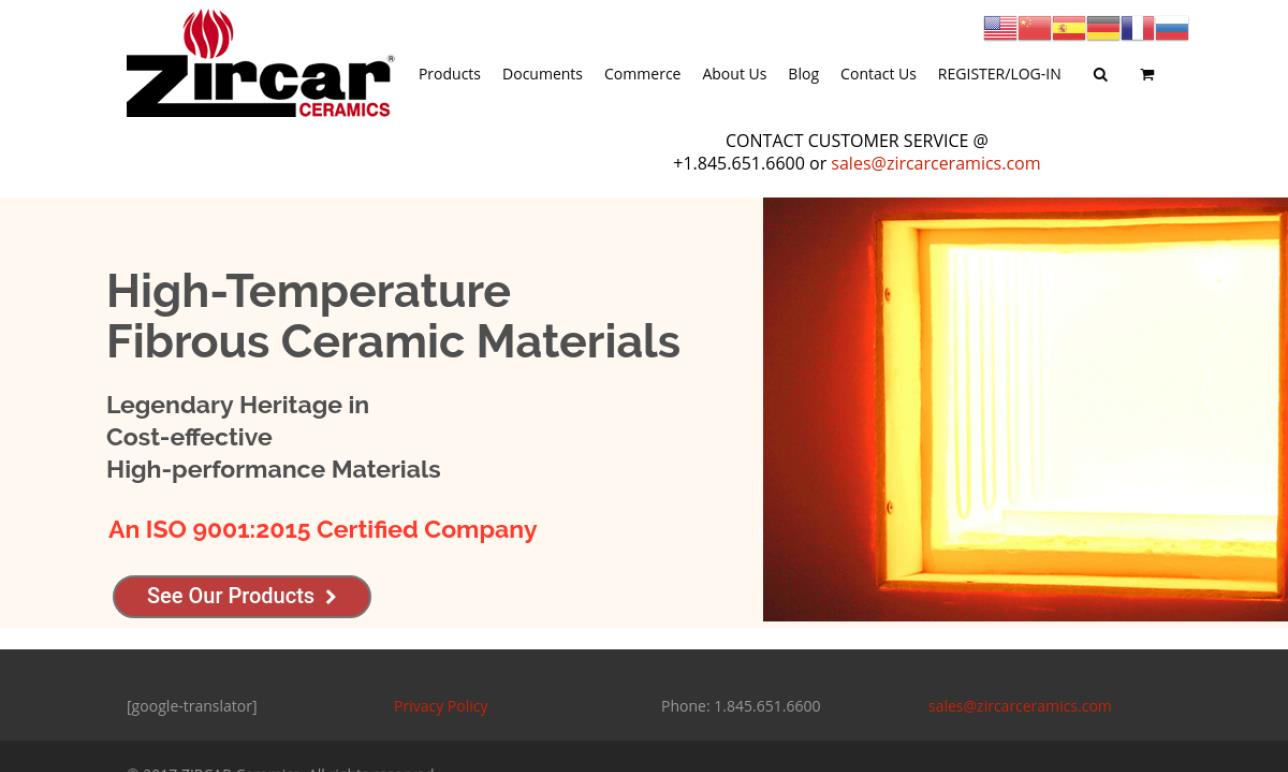 ZIRCAR Ceramics, Inc.
